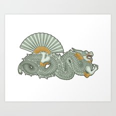 Barcelona dragon Art Print