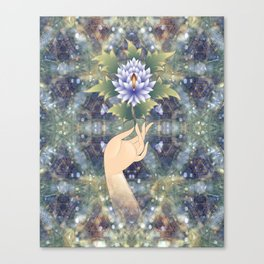 flower sermon of the Buddha Canvas Print