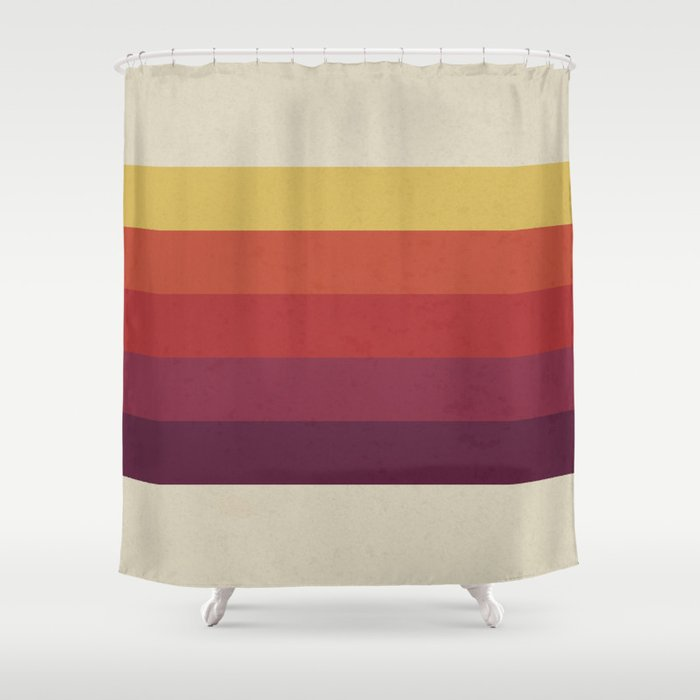 Retro Video Cassette Color Palette Shower Curtain