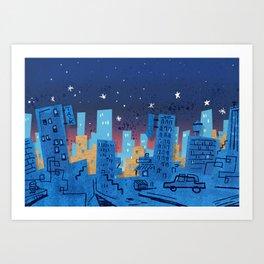 Talk Town USA Art Print