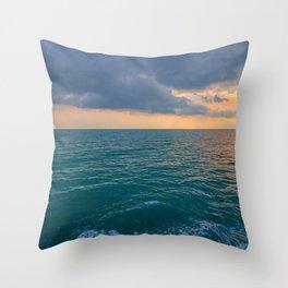 Glowing Horizon Throw Pillow