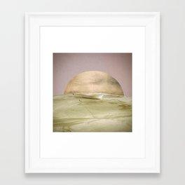 Peach Dusk Framed Art Print
