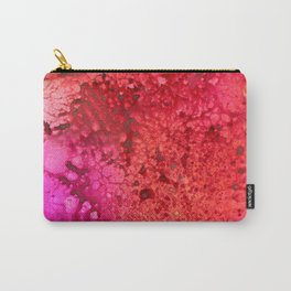 Red to pink spattered Carry-All Pouch