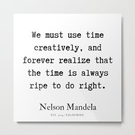 48   | Nelson Mandela  Quotes | 190818 Metal Print
