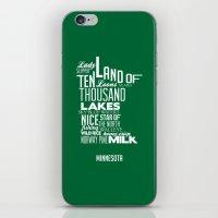 minnesota iPhone & iPod Skins featuring Minnesota by Kelly Jane