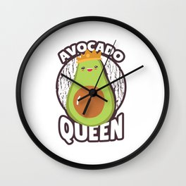 Avocado Queen Wall Clock
