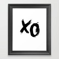 XO HUGS AND KISSES TYPOGRAPHY Framed Art Print