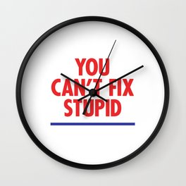You Can't Fix Stupid Wall Clock