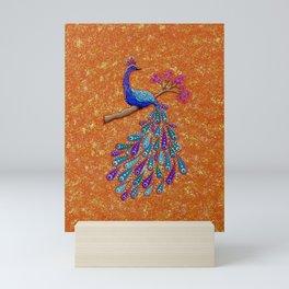 Pretty as a Peacock Mini Art Print