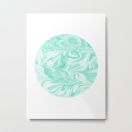 Ryota - spilled ink abstract marble circle trendy must have gift for dorm college student life paint Metal Print