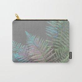 Rainbow Fern on Grey #decor #buyart #foliage Carry-All Pouch