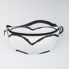 Black and white lines Fanny Pack