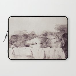 Lying on the bed. Nude studio Laptop Sleeve