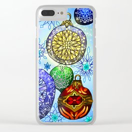 Christmas Artwork #4 (2018, Glow) Clear iPhone Case