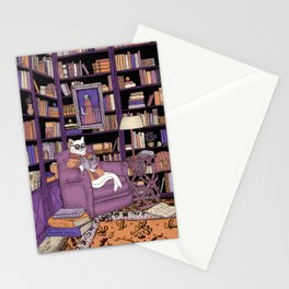 The Cat's Library Stationery Cards