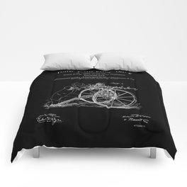 Machine Gun Patent - Black Comforters
