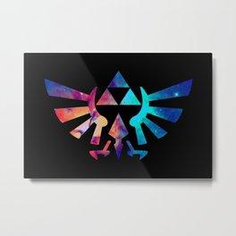 The Legend of Zelda Triforce Multicolored Stars Metal Print