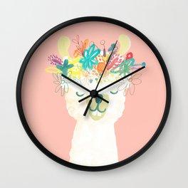 Llama Goddess Wall Clock