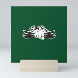 Slug Bug Fist With Dark Green Background Mini Art Print