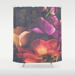 Color Burst Florals Shower Curtain