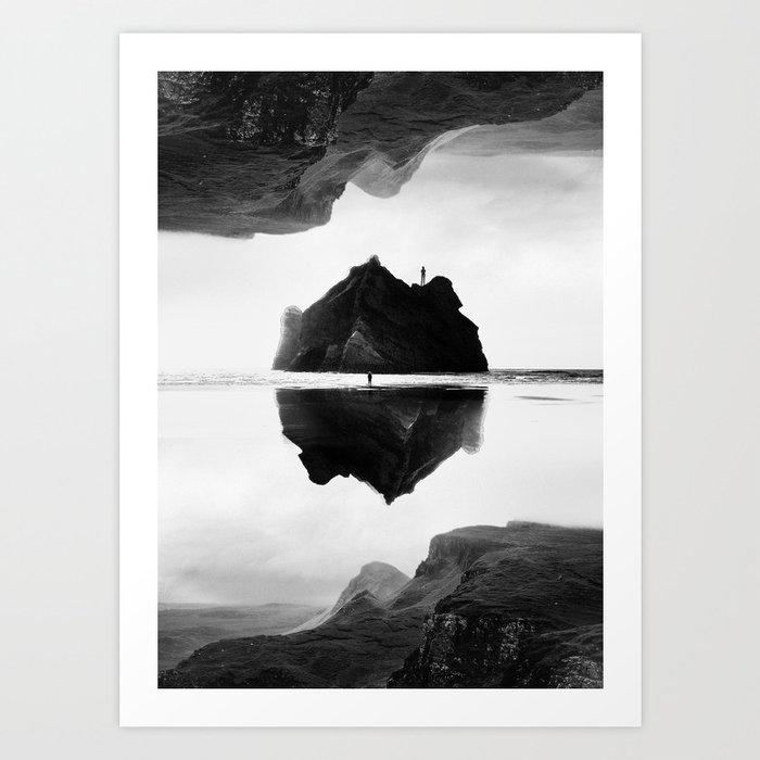 Black and White Isolation Island Kunstdrucke