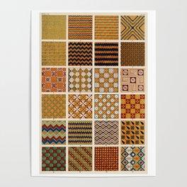 Egyptian Patterns, Vintage Design Poster