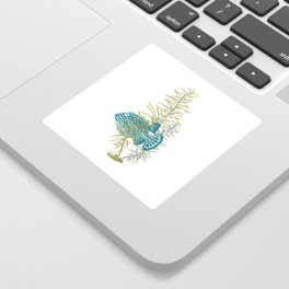 Seaweed Graphics Bright Cowfish Sticker