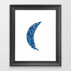 A Moon full of hearts 2 Framed Art Print