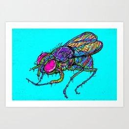 EVIL FLY Art Print
