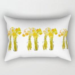Daffodils watercolor Rectangular Pillow