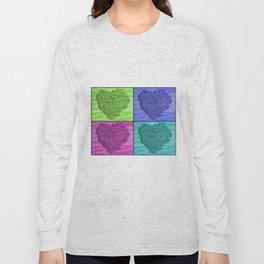 420 Hearts Quad 3a Long Sleeve T-shirt