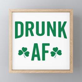 Drunk AF Funny Quote Framed Mini Art Print