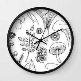 Wild Gatherer III Wall Clock