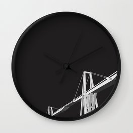 Maracaibo Lake Bridge BLACK Wall Clock