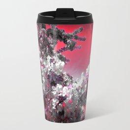Flowers Purple Fuchsia Hot Pink Travel Mug