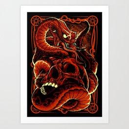Skull with Snake Art Print