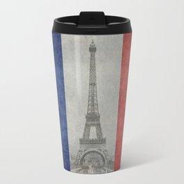 Eiffel tower with French flag Travel Mug