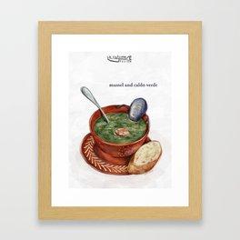 La Cuisine Fusion - Mussels with Caldo Verde Framed Art Print