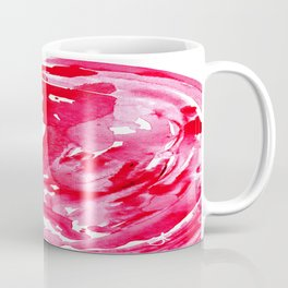 The One Who Came by Water and Blood. Watercolor Red Wave Coffee Mug