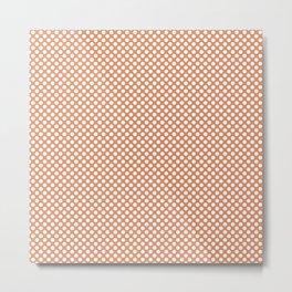 Copper Tan and White Polka Dots Metal Print