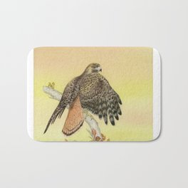 Red-tailed hawk Bath Mat