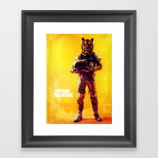 I'm from the future Framed Art Print
