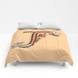 Celtic Fox Letter J Comforters
