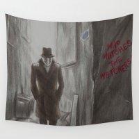 rorschach Wall Tapestries featuring Rorschach by JadeJonesArt