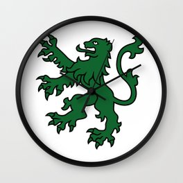 Green Lion Wall Clock