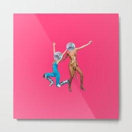 party people pink Metal Print