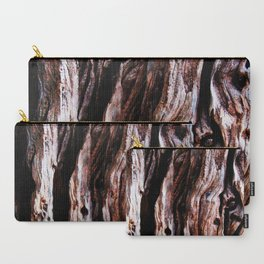 Ancient olive tree wood close-up Carry-All Pouch