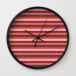 Stripey 13 Wall Clock