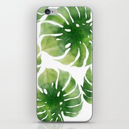 Monstera watercolor I iPhone Skin