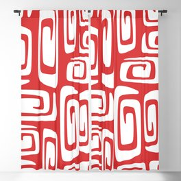 Mid Century Modern Cosmic Abstract 612 Red Blackout Curtain